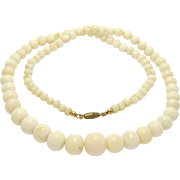 Victorian Graduated Angelskin Coral Beads