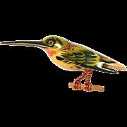 Hand Painted Original Takahashi Hummingbird Brooch
