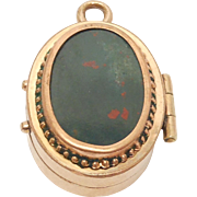 Victorian Gold Filled Bloodstone & Agate Charm Locket