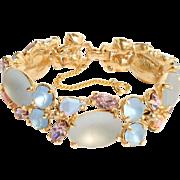 Rare Vintage Satin Glass Schiaparelli Aurora Bracelet