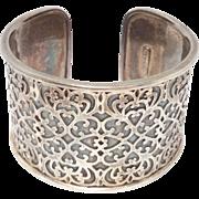 Gorgeous Wide Filigree Ornate Cuff Bracelet Silpada Retired