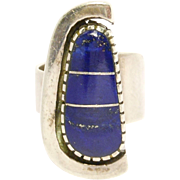 Beautiful Lapis & Silver Ring Christin Wolf Southwest