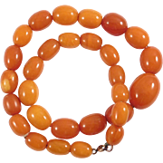 Antique Butterscotch Egg Yolk Amber Beads Amazing Colors 21.5 Grams