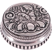Victorian Sterling Repousse Gorham Trinket Box 1St Prize For Whist Game 1893