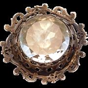 Incredible Georgian Paste Brooch Silver Kilt Pin Style European