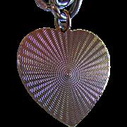 SALE Vintage Sterling Silver Heart Charm & Flat Double Link LISNER Charm Bracelet