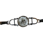 SALE Reverse Carved Intaglio Rock Crystal FOX Bracelet With Equestrian Horse Design With ...