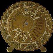 SALE Vintage Lampl Brass 28 Year Rotating Perpetual Calendar