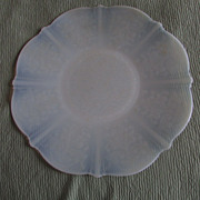 SALE TWO American Sweetheart Monax White Opalescent Depression Glass Dinner Plates ~~ Such A .