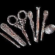 SALE JENNEN & BITTRIDGE ~~ Victorian LADY'S COMPANION/Necessaire ~~ Sterling Silver ...