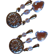 SALE VINTAGE Big & Bold ~~ Chatelaine-Style Chandelier, Dangly, Drop, Shoulder Duster Earrings