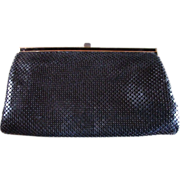 SALE Whiting & Davis BLACK MESH Evening Bag ~~ Clutch/Shoulder Purse Convertible ~~ Great ...