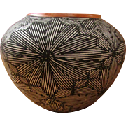 SALE ACOMA PUEBLO Fine Line Seed Pot ~ A Delma Vallo, Native American, Work Of ...
