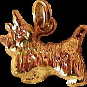 SALE SCOTTIE DOG ~ Sterling Silver Charm ~ Pendant ~ Key Tag ~ Vintage Excellence ...
