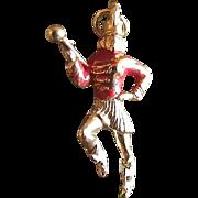 SALE 14K YGP 3D DRUM MAJOR Charm ~ Pendant ~ Super Vintage Addition To Your ...