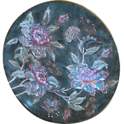 SALE TOYO FLORAL Art Plate ~ Vibrant Hand-Painted Chinese PEONY Art Plate ~ Pretty ...