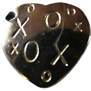 SALE 10KT GP X's & O's ~ Hugs & Kisses HEART CHARM ~ Perfect Gift ...