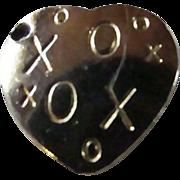 SALE 10KT GP X's & O's ~ Hugs & Kisses HEART CHARM ~ Perfect Gift ...