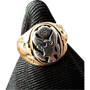 SALE 1940's WWII US Army Officer's Ring ~ Sterling Silver a la 14 ...
