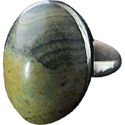 SALE JASPER RING ~ Australian Rainforest Striated Jasper (Or Rhyolite) Sterling Silver ~ ...