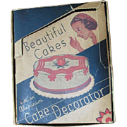 SALE Antique Cake Decorating Kit ~ Aluminum Pieces ~ Original Box Is In Splendid Condition