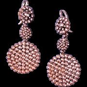 French Victorian Cut Steel Chandelier Earrings Dressy Jewelry