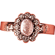 Antique Victorian Sterling French Ring souvenir Jewelry stamped Size 9.25 US