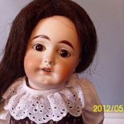 SALE PENDING German bisque mystery doll with paperweight eyes