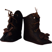 SALE PENDING French Style Leather Doll Boots