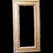 "Victorian gilt rectangular 10"" x 26"" frame late 19th century"