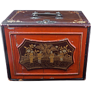 SOLD Chinese lacquer mahjong case late 19th century