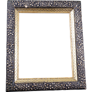 Gilt Victorian frame late with ornate floral molding 19th century