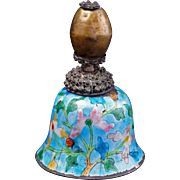 Chinese brass Mandarin hat finial re-purposed as a bell late 19th century
