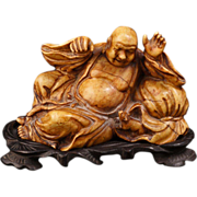 Chinese soapstone carving of a Chinese immortal circa 1900