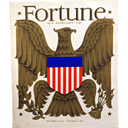 REDUCED Vintage Fortune Magazine February 1940 - 10th Anniversary Edition