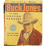 REDUCED Big Little Book of Buck Jones - The Fighting Rangers #1188 from 1936