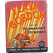 Big Little child's book of Flash Gordon and the Tournaments of Mongo #1171 from the 1930's