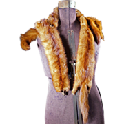 1940's Mink Collar Stole. 4 Pelts. Sable Brown. Mint Condition.