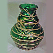 REDUCED Vintage Early 20th Century Art Nouveau Handblown Art Glass Vase