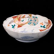 REDUCED Japanese porcelain lmari bowl with Kirin 19th century