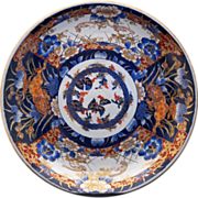 Large Ornate Japanese Gilded porcelain Imari Charger -  19th C
