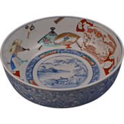 Late Edo Japanese porcelain Imari bowl mid 19th century