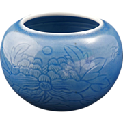 REDUCED Incised Pale Blue Clair de Lune Chinese Porcelain Brushwash with Yongzheng Reign Mark