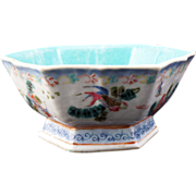 REDUCED Six sided Chinese Porcelain Bowl with Goldfish designs and Tongzhi reign mark (1862-74