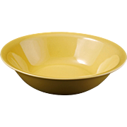 Mid-century Vernonware medium acacia yellow Ceramic serving bowl Casual California pattern c 1
