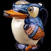 Kookaburra bird ceramic pitcher circa 1940