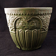 REDUCED Renaissance Revival green glazed jardiniere - Early 20th century