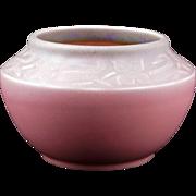 Rookwood matte green blending to rose bowl #2179, c 1931