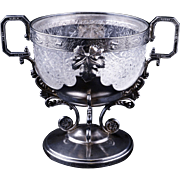 Webster silver plate and glass compote bowl circa 1890