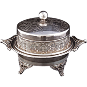 REDUCED Victorian Silver Plate Butter Dish by Toronto Silver Plate Company circa 1890